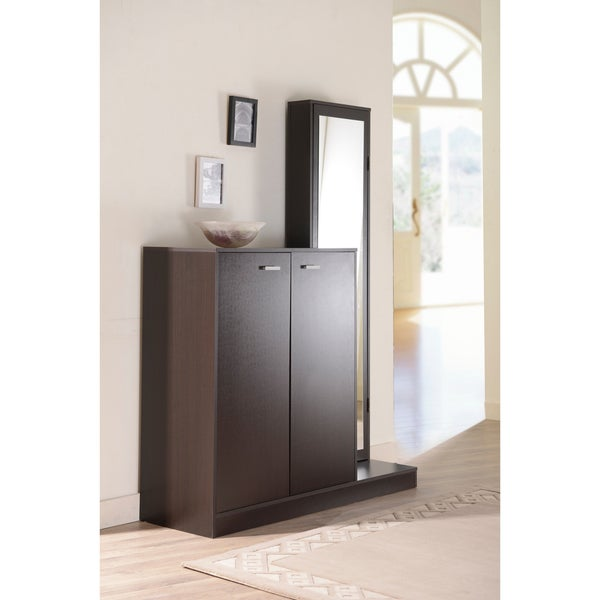Furniture of America Macey Multi-functional Shoe Storage Cabinet