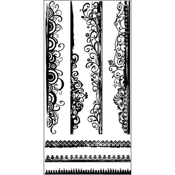 Art Warehouse Clear Stamps 4X9 Sheet-Artsy Edges