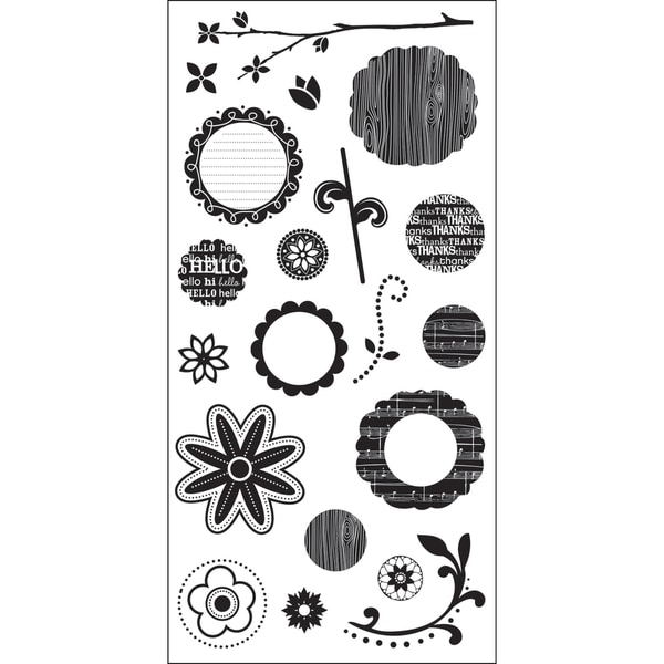 "Art Warehouse Clear Stamps 4""X9"" Sheet-Flower Parts"