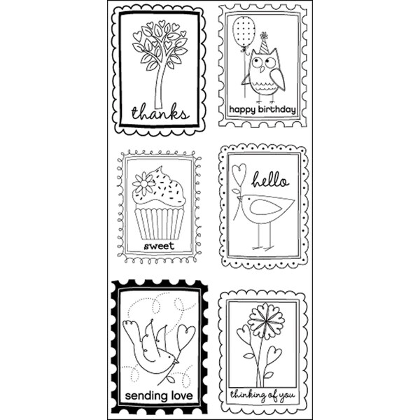 "Art Warehouse Clear Stamps 4""X9"" Sheet-Block Words Phrases"