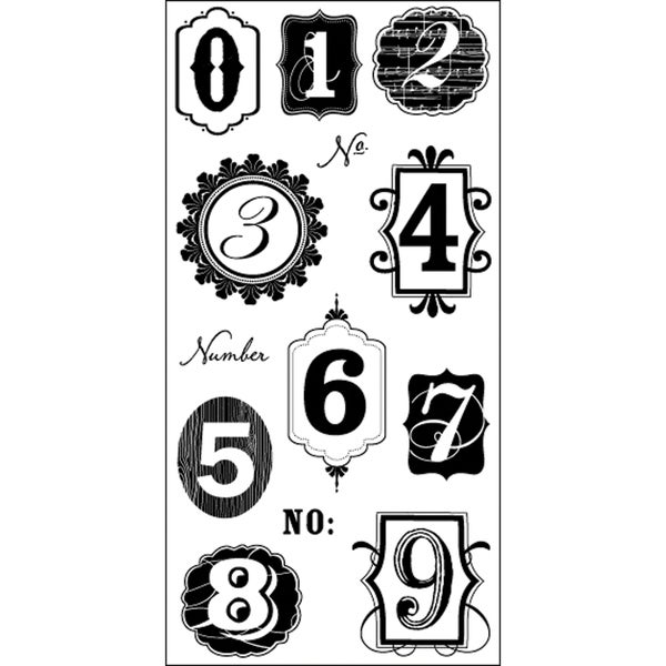 "Art Warehouse Clear Stamps 4""X9"" Sheet-Numbers"