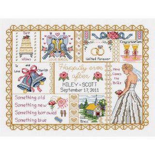 Shop Wedding Collage Counted Cross Stitch Kit 13 1 4 Quot X10