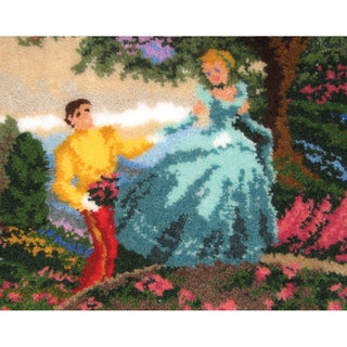 """Latch Hook Kit 21""""X26""""-Cinderella Wishes Upon A Dream"""