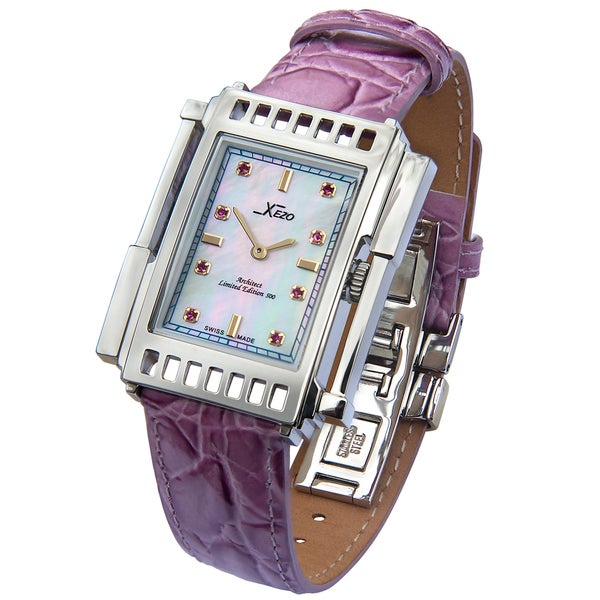 Shop xezo women 39 s architect 2001 limited edition swiss watch free shipping today overstock for Xezo watches