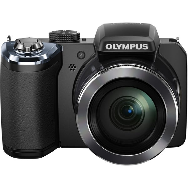 Olympus Traveller SP-820UZ iHS 14 Megapixel Compact Camera - Black