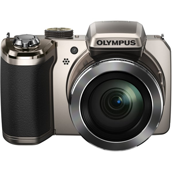 Olympus Traveller SP-820UZ iHS 14 Megapixel Compact Camera - Silver