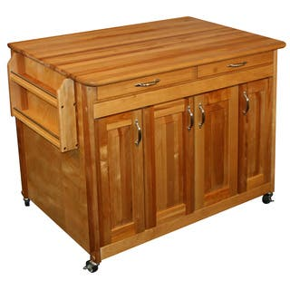 Solid Wood Catskill Craftsman Butcher Block Workcenter|https://ak1.ostkcdn.com/images/products/7182871/P14671081.jpg?impolicy=medium