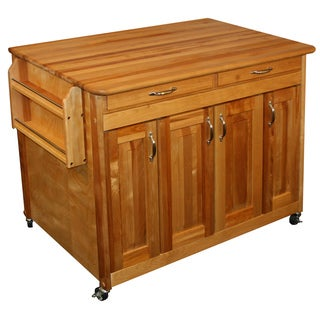 Solid Wood Catskill Craftsman Butcher Block Workcenter