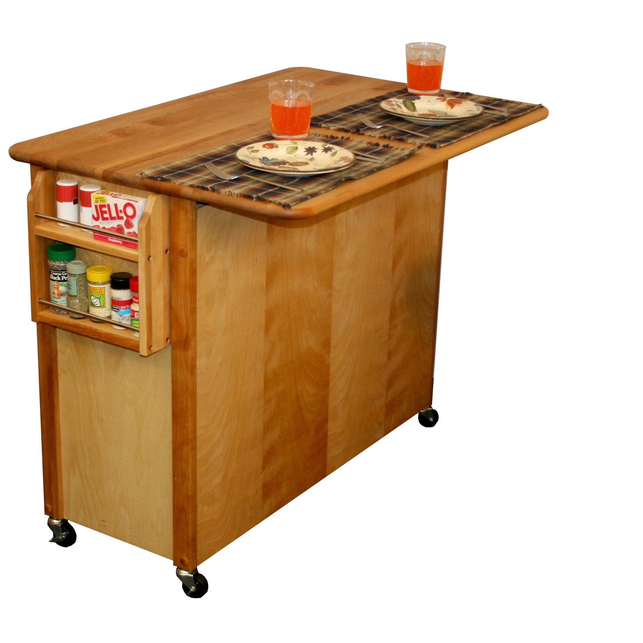 Shop Catskill Craftsman Butcher Block Drop Leaf Kitchen Island On Sale Overstock 7182875