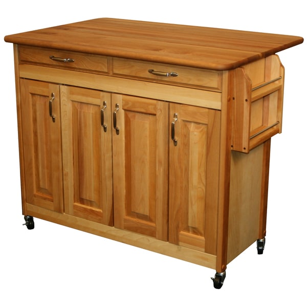 catskill craftsman butcher block drop leaf kitchen island  free,