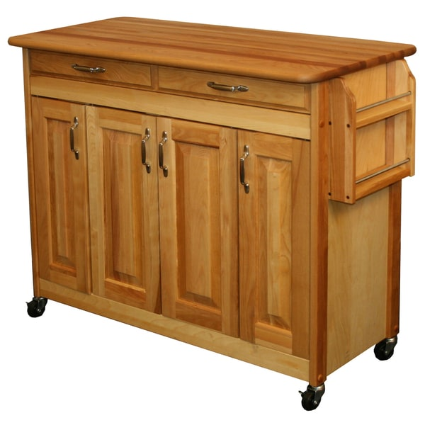 Butcher Block Kitchen Carts And Islands : Shop Catskill Craftsman Butcher Block Kitchen Island - Free Shipping Today - Overstock - 7182876