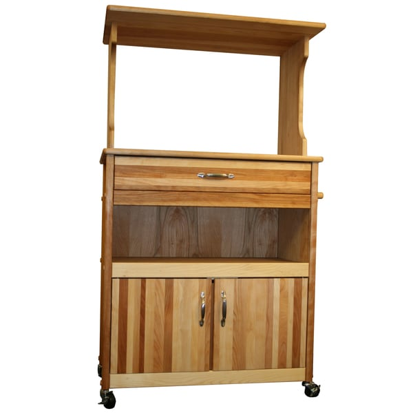 Shop Simple Living Rolling Galvin Microwave Cart: Shop Catskill Craftsman Microwave Storage Cart