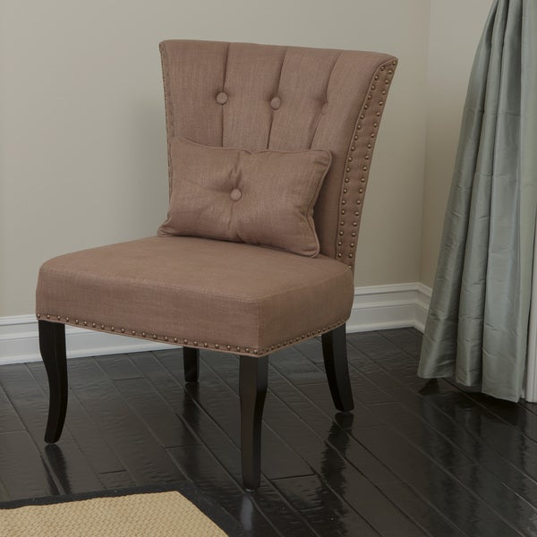 Franco Brown Fabric Accent Chair by Christopher Knight Home