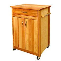 Butcher Block Cart with Flat Doors