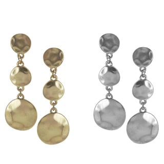 Journee Collection Metal Antique-style 3-disc Dangle Earrings