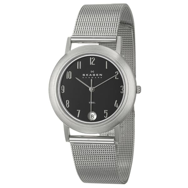 Skagen Men's Stainless Steel Bezel Mesh Watch