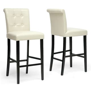 "Traditional Faux Leather 30"" Bar Stool by Baxton Studio"
