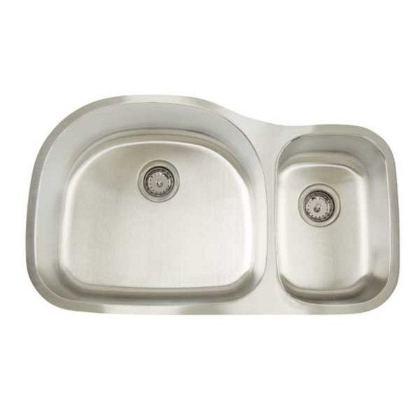 Shallow Stainless Steel Sink : ... Premium Series Undermount Deep/ Shallow Double Bowl Kitchen Sink
