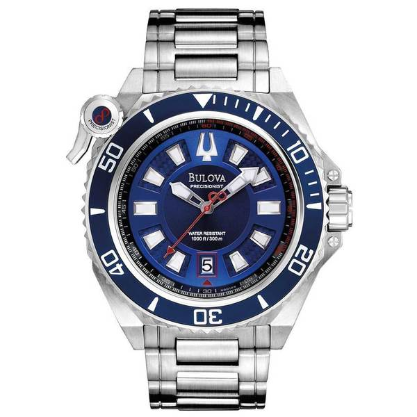 Bulova Men's 98B168 Precisionist Catamount Blue Dial Bracelet Watch