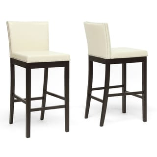 """Traditional Faux Leather 31"""" Bar Stool by Baxton Studio"""