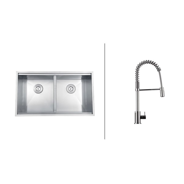 Ruvati Stainless-Steel Undermount Kitchen Sink/Polished Chrome Faucet Set