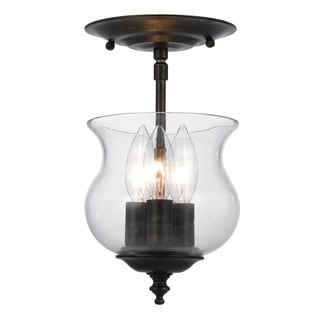 Crystorama Ascott 3 light English Bronze Semi-flush Light Fixture