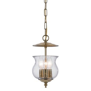 Crystorama Ascott Collection 3-light Polished Brass Pendant