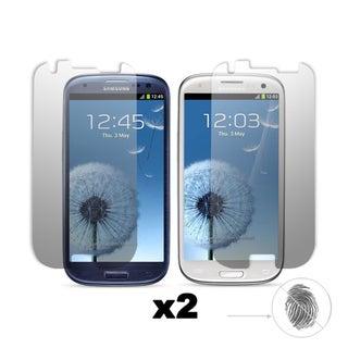 Premium Anti-Glare/ Anti-Finger Print Screen Protector for the Samsung Galaxy S III (Set of 2)