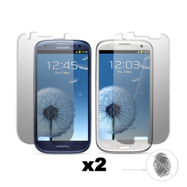 Premium Anti-Glare/ Anti-Finger Print Screen Protector for the Samsung Galaxy S III (Set of 2)