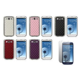 Sparkling Rhinestone Designer Case and Screen Protector for the Samsung Galaxy S III (I9300)