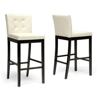 "Traditional Faux Leather 31"" Bar Stool by Baxton Studio"