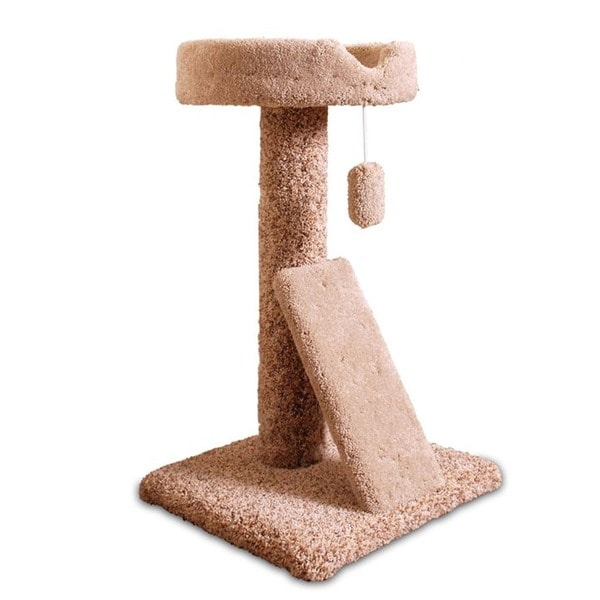 Majestic Pet 30-inch Carpeted Ramp Claw Bed Cat Tree