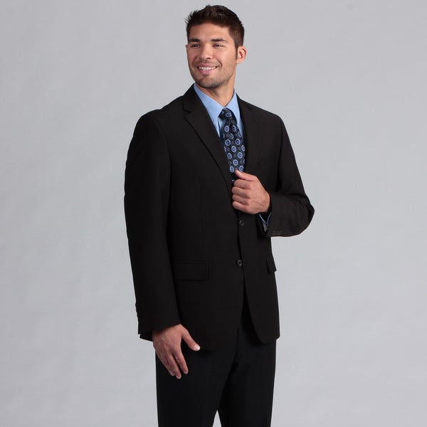 Geoffrey Beene Men's Black Thin Stripe Suit Separate Coat