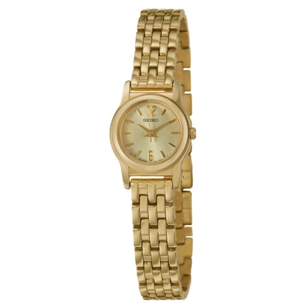 Seiko Women's 'Dress' Stainless Steel Yellow Gold-plated Watch