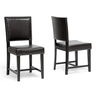 Baxton Studio Nottingham Brown Modern Dining Chair (Set of 2)