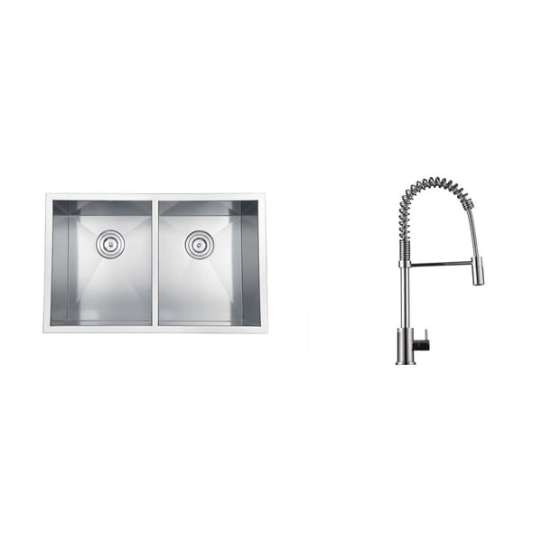 Ruvati Stainless Steel Kitchen Sink/ Polished Chrome Faucet Set