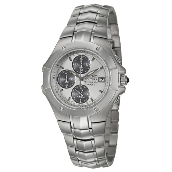 Seiko Men's 'Coutura' Stainless Steel Chronograph Watch