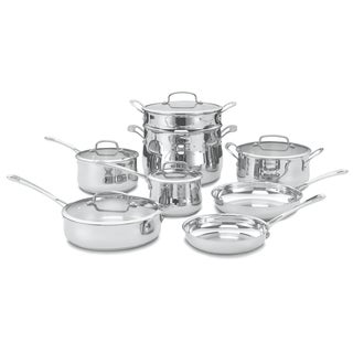 Cuisinart Contour Brushed Stainless Steel 13-piece Cookware Set