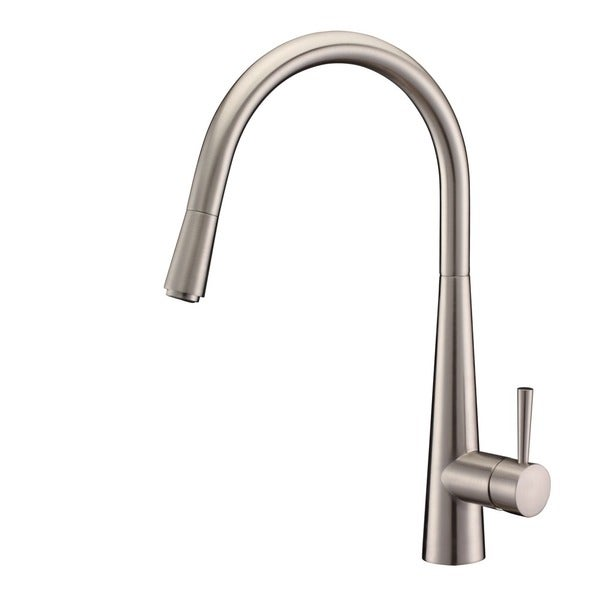 ruvati brushed nickel pullout spray kitchen faucet brushed
