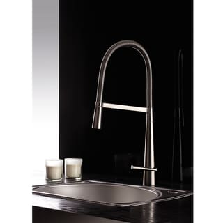 Ruvati Brushed Nickel Pullout Spray Kitchen Faucet
