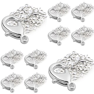 INSTEN 12-millimeter Silver Metal Lobster Clasps for Jewelry (Pack of 500)