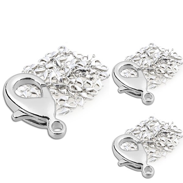 INSTEN 12-mm Silver Lobster Clasps (Pack of 150)