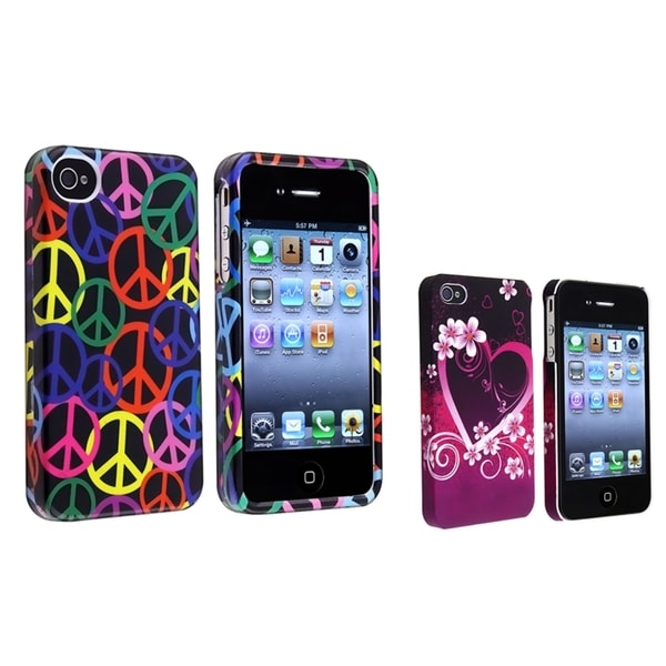 BasAcc Black Rainbow Case/ Purple Rubber Case for Apple® iPhone 4/ 4S