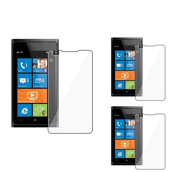 INSTEN Clear Screen Protector for Nokia Lumia 900 (Pack of 3)