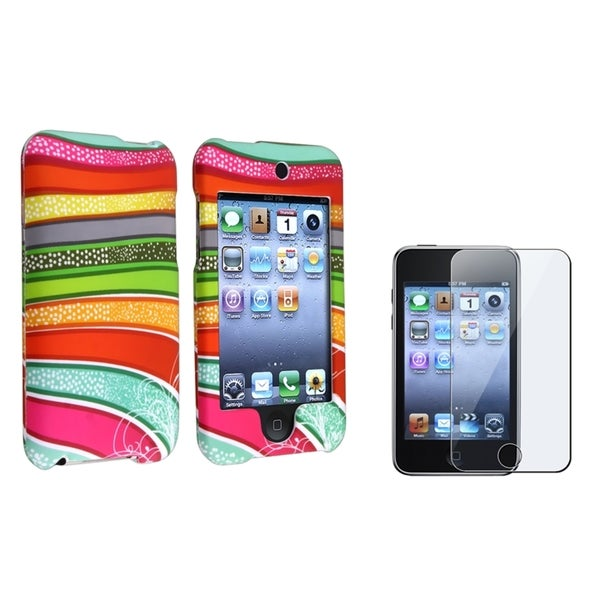 INSTEN Rubber iPod Case Cover/ Screen Protector for Apple iPod Touch Generation 2/ 3