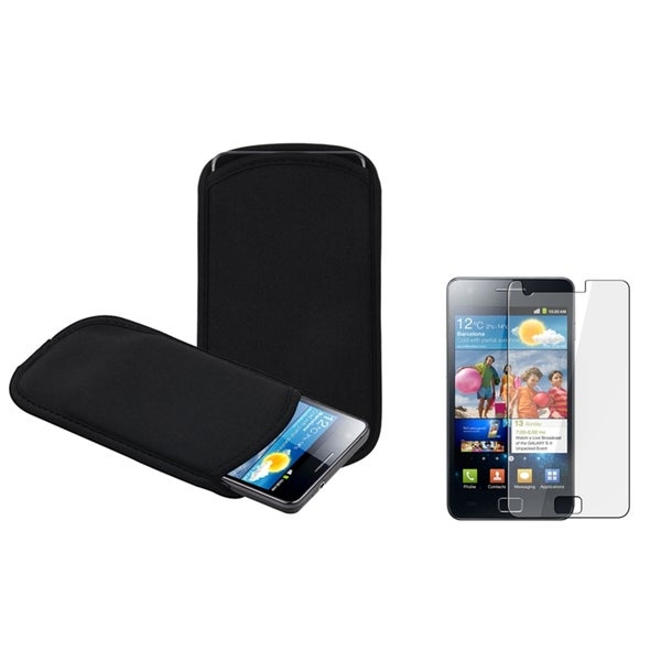 BasAcc Soft Pouch/ Screen Protector for Samsung© Galaxy S2 i9100