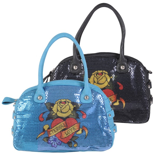 Ed Hardy Women's Adele Double Handle Bowler Handbag
