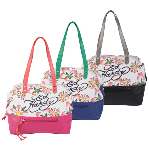 Ed Hardy Women's Alyssa Floral Print Tote