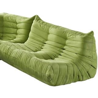 Waverunner Modular Green Sectional Loveseat