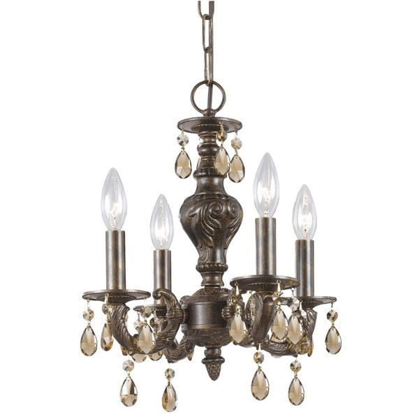 Crystorama Traditional 4-light Venetian Bronze Chandelier